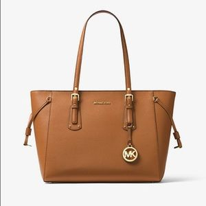 Michael Kors Voyage Medium Crossgrain Leather Tote